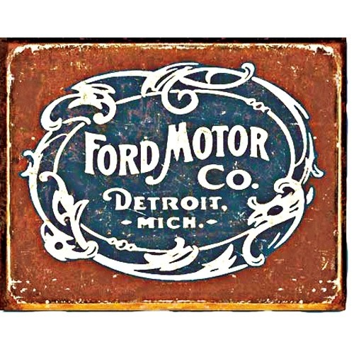 Vintage FORD® Logo Tin Sign