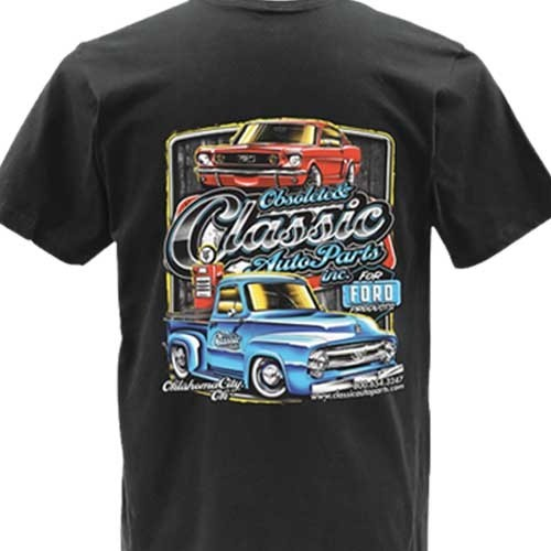 Double Extra Large Black Obsolete & Classic Auto Parts Official 2018-2019 T-shirt